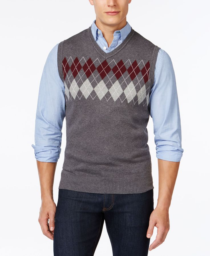 Club Room Big and Tall Argyle Sweater Vest, Only at Macy's