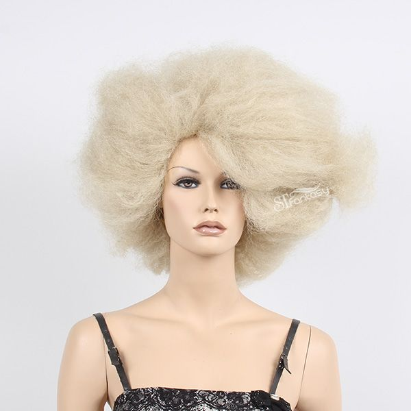 supprise!white afro wig is coming!It is best choice for cosplay.stfantasy wig is the best wig supplier from China.