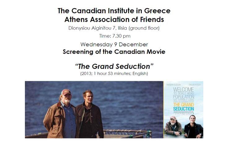 "Canadian film ""The Grand Seduction"" December 9 @ 7:30 pm - 9:00 pm"