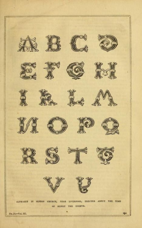 """Alphabet on Sefton Church, near Liverpool."" The Decorator's assistant. V.3. 1848."