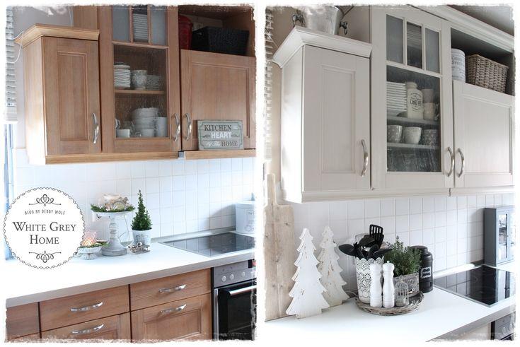 ENDLICH! neue alte Küche mit Kreidefarbe Upcycling, Buffet and - k che folieren vorher nachher