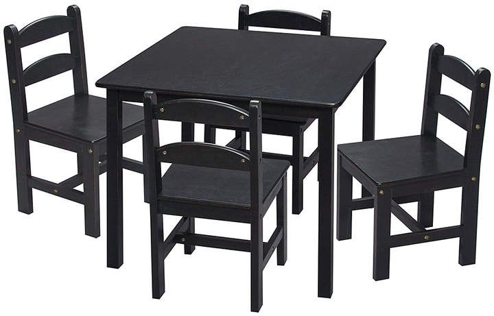 Black Table Four Chair Set Kids Table Chair Set Round Table And Chairs Kids Table And Chairs