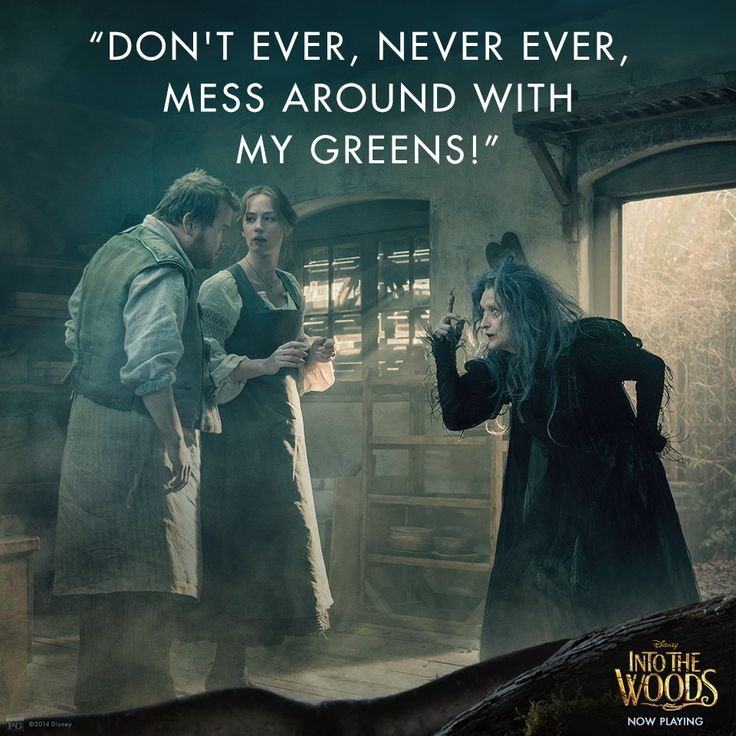 """""""Especially the beans!"""" #IntoTheWoods"""