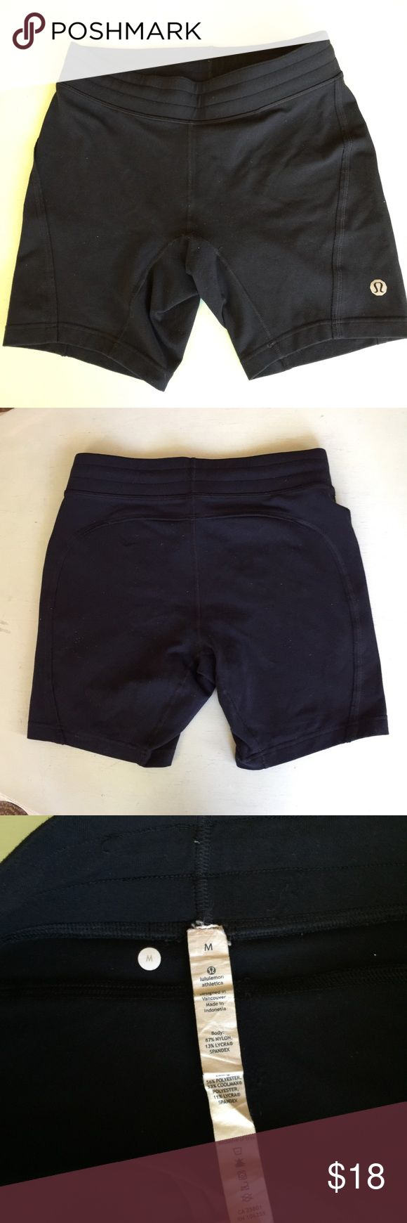 MENS Lululemon shorts size medium Black used Lululemon shorts. Shorter length and tighter fit. More of a bicycle type short. Drawstring on interior to tighten around the waist. Hang tag attached size m , medium lululemon athletica Shorts Athletic