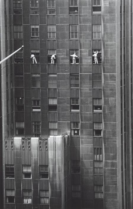 New York City window washers, 1958
