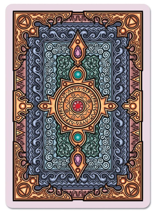 Grimoire Playing Cards Elemental Magick - Back | more here: http://playingcardcollector.net/2014/10/21/grimoire-playing-cards-1-by-edgy-brothers/