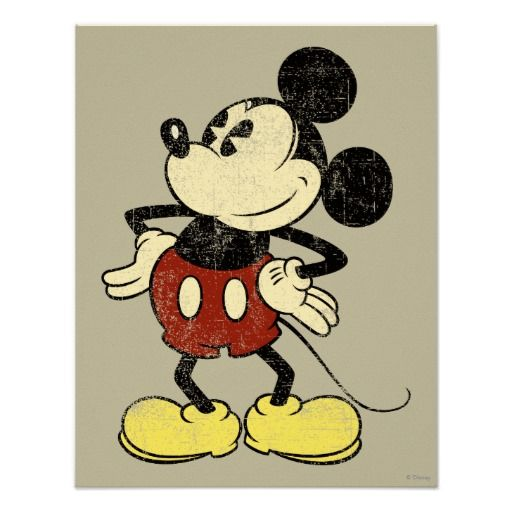 Vintage Mickey Mouse 2 Poster