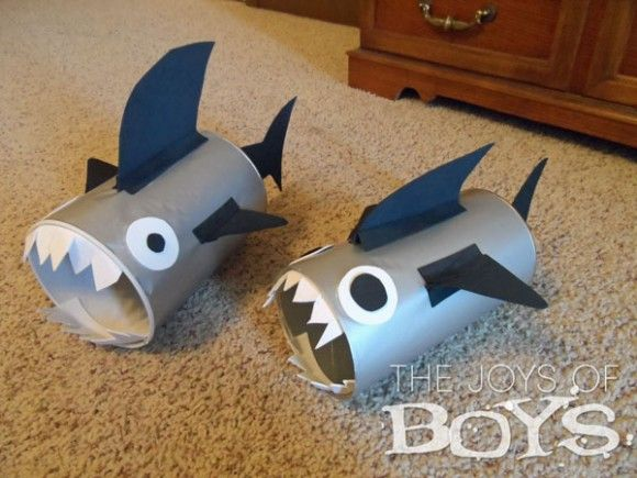 crafts for kids to make from a pringles can    it s that time of year again our annual crafty shark week are you ...