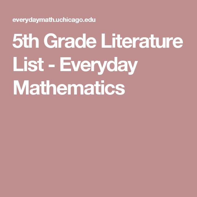 5th Grade Literature List -     Everyday Mathematics