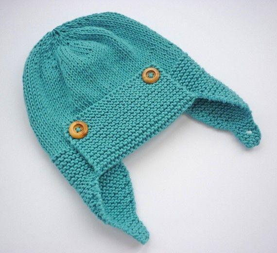 Baby Pilot Hat Knitting Pattern Wright Flyer ААА детям
