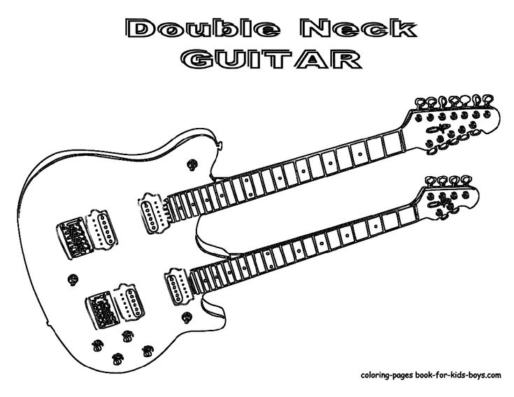 double neck guitar coloring page you dont see too many guitarist playing these double
