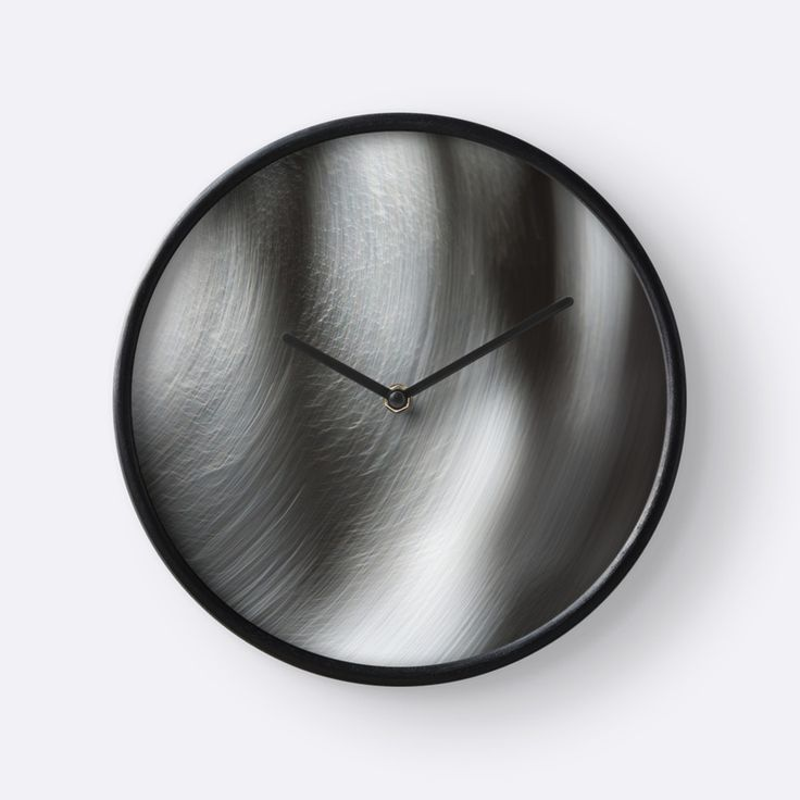 Black and White Abstract Swirls clock by Galerie 503