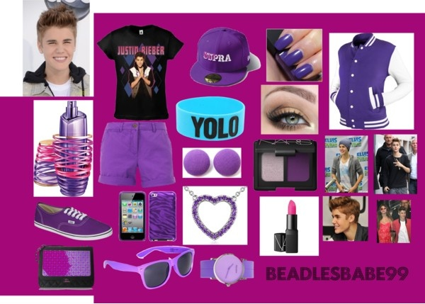 """what i would wear at a justin bieber concert"" by beadlesbabe99 on Polyvore"