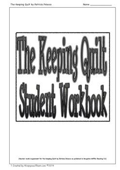 A workbook to supplement the story The Keeping Quilt as published in Houghton and Mifflin Reading 3.1.  Included are: two vocabulary activities which focus on using a combination of dictionary skills and context clues, ten comprehension questions, evaluate a story introduction, evaluate a story activities to help students apply that skill, sequencing, summarizing, a reading passage about Russia with matching crossword puzzle.