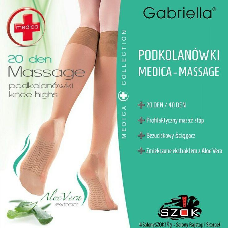 🔴 #Podkolanówki #Gabriella #Medica #Massage z profilaktycznym #masażem #stóp, #bezuciskowym #ściągaczem i #ekstraktem #AloeVera! Serdecznie Zapraszamy ➡ #SalonySZOK!👣