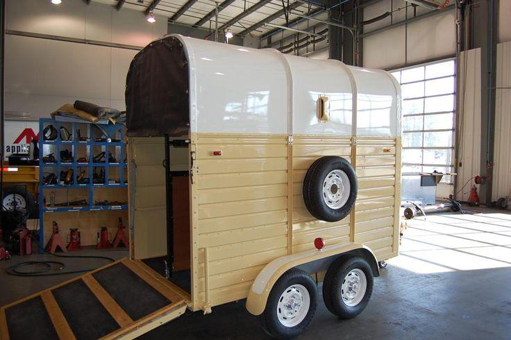 Historic 1983 Rice Horse Trailer Restoration   Custom Trailers    trailer restoration at goldengail.com