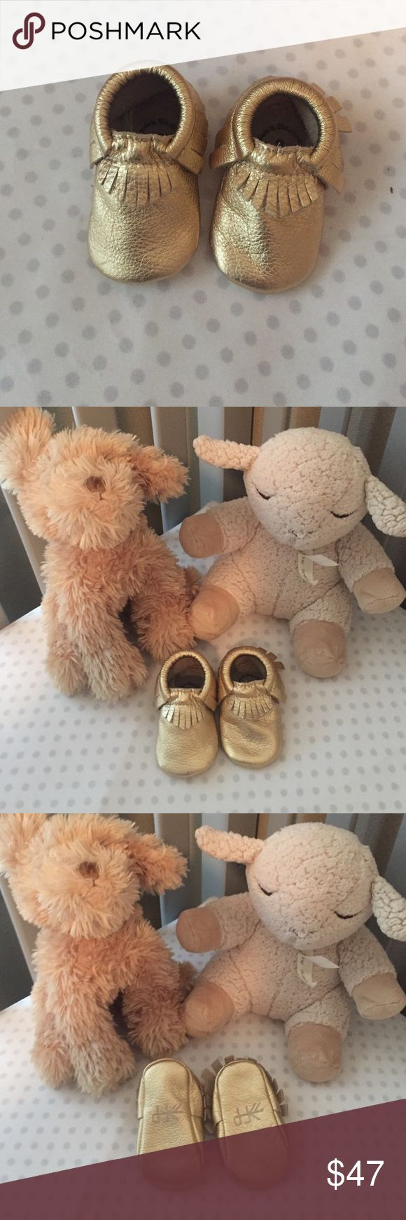 Adorable gold Freshly Picked Mocassins Perfect condition. Love these more than any other item. Have 2 pairs, saving one as a keepsake! Freshly Picked Shoes Moccasins