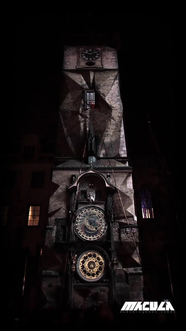 #Video-mapping during 600 years anniversary of the astronomical tower clock situated at #Old Town Square in center of #Prague.