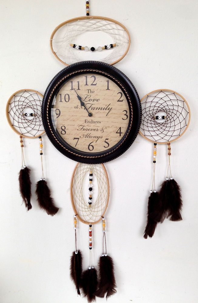 Dream Catcher Wall Clock Native American Boho Family Quote Clock Works Great! #Unbranded