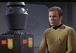 "Kirk asks Nomad of it ""origin"" in The Changeling--The crew of the USS Enterprise deals with an indestructible planet-destroying space probe. This episode is one of only a handful in the original series that take place entirely aboard the Enterprise."