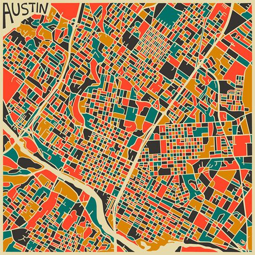 Mapas+se+tornam+coloridas+obras+de+arte+abstratas+nas+mãos+de+artista
