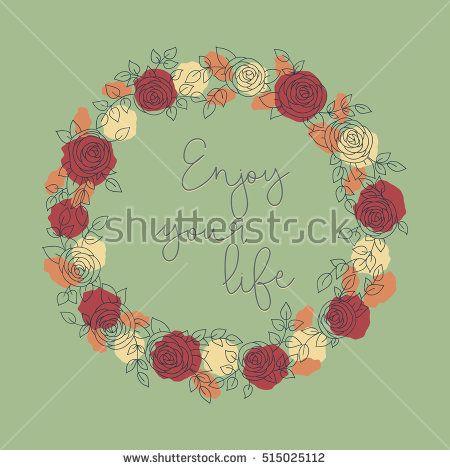 Floral card design, flowers and leaf doodle elements. Illustration made of flowers and herbs. Vector decorative invitation. Spring elements. Floral doodles