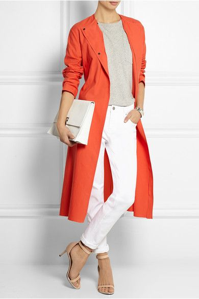 Colored trench-coat