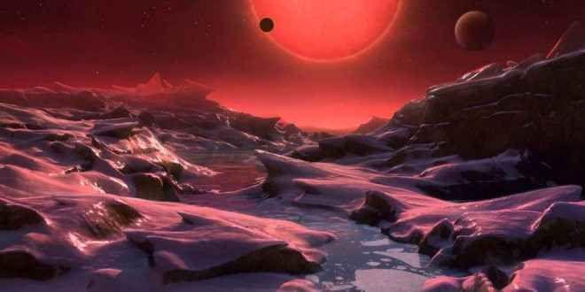 Trappist-1: Ecco la scoperta che cambia il presente E' a 40 anni luce da noi. Il cuore è la stella nana rossa Trappist-1, i pianeti hanno temperatura tra 0 e 100 gradi e quindi c'è la possibilità di acqua allo stato liquido, che li rende di grandissim
