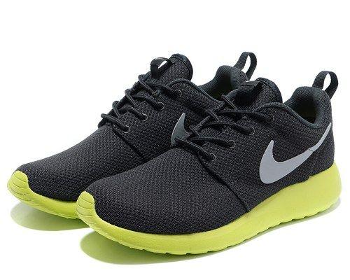 nikes 511881 003 roshe run mesh black gray green men running shoes