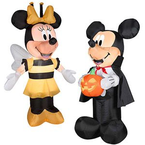 Minnie And Mickey Halloween Airblown Inflatable Value