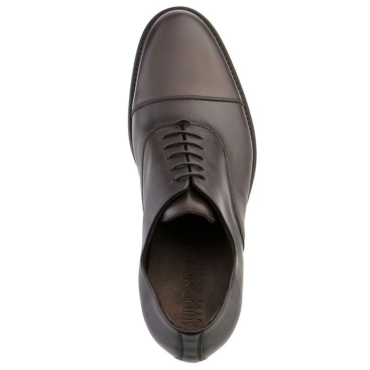Elevator Dress shoes : Castro (Dark Brown), in full grain leather and full soft leather lining. Insole and midsole in genuine leather. Hand Made elevator shoes in Italy, for more : www.guidomaggi.com/us