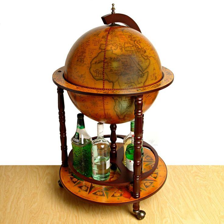"16th Century Italian Replica Globe Bar - 21"" diameter"