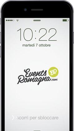 iphone con applicazione EventsRomagna.com
