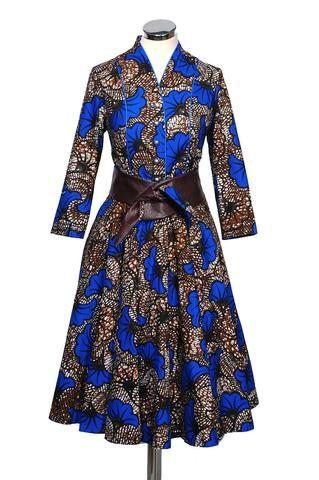 Hemdblusenkleid Blau | Dress blue