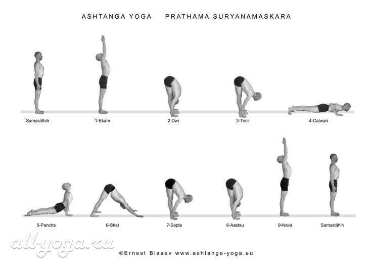 Surya namaskar  (приветствие Солнцу)