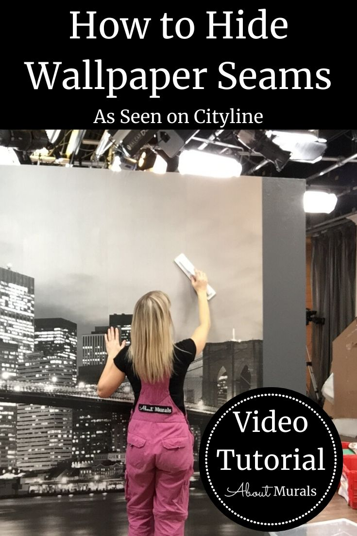 Wallpaper Seams How To Hide Or Repair Diy Videos From About Murals How To Hang Wallpaper How To Install Wallpaper Seam