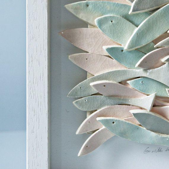 ceramic wall art ceramic fish art sculptural pottery tile