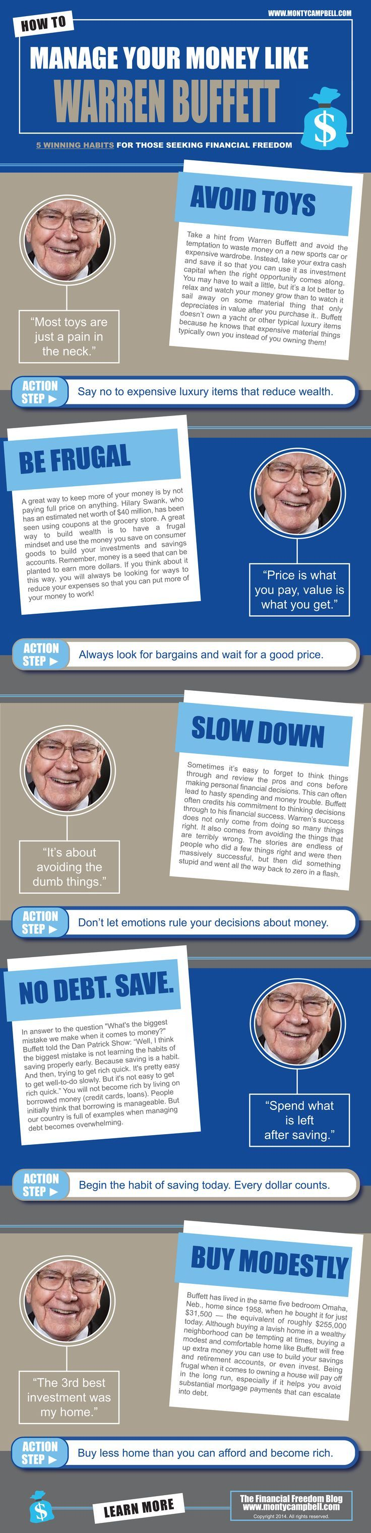 Warren Buffet infographic. God - please grant me the willpower for resisting consumerism investing basics, how to invest #personalfinance