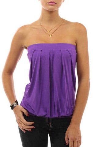 e84566d812 Shop for ✿ 72% OFF ✿ 2018 Sexy Strapless Sleeveless Solid Color Ruched Tank  Top For Women in PURPLE M online at  4.99 and discover other cheap Vests ...