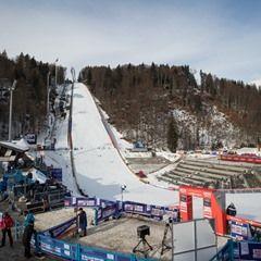 The Heini Klopfer ski flying hill at the Ski Flying World Cup 2017 in Oberstdorf, Germany