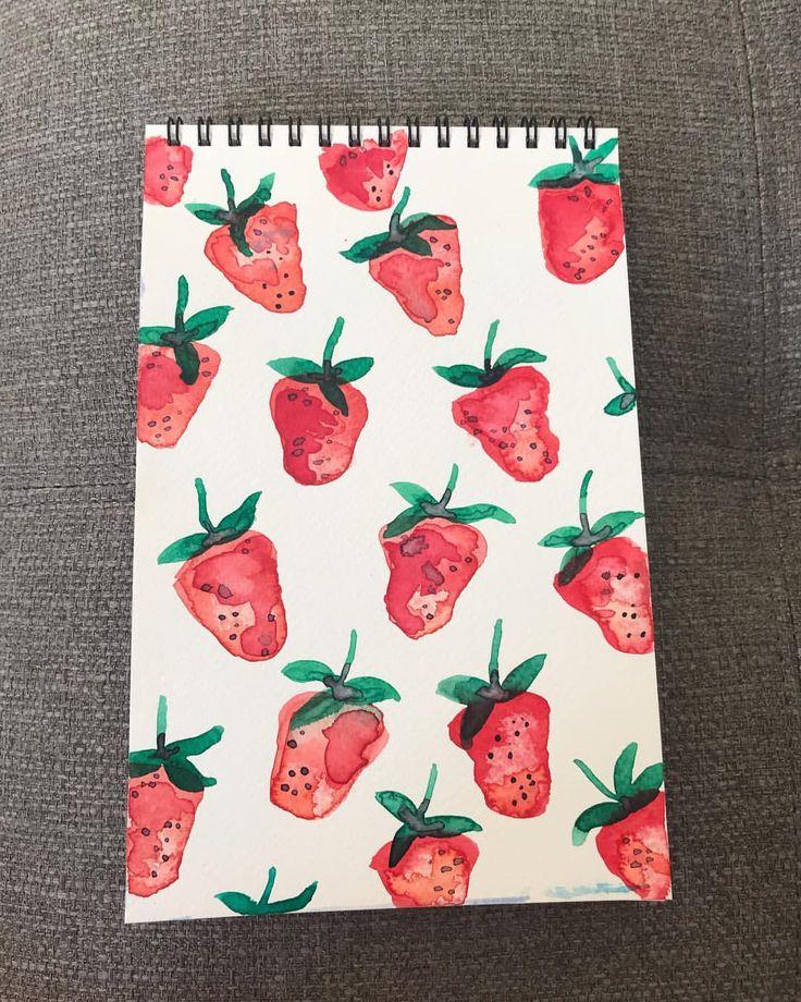 "18 Likes, 3 Comments - Maybloom Studio (@maybloomstudio) on Instagram: ""38/365 Succulent Strawberries  #maybloomstudio #2018 #paintingoftheday #sticktoit #february…"""