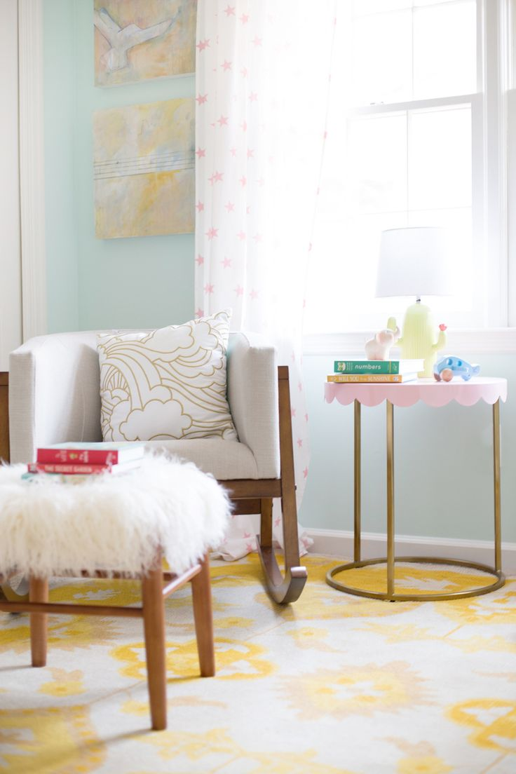 bright and airy nursery with the baby relax luna collection on LayBabyLay.com