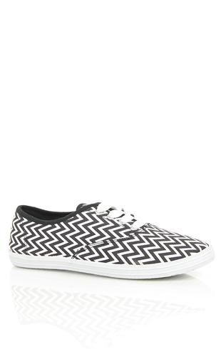 Deb Shops #chevron print low top #sneakers $12.90