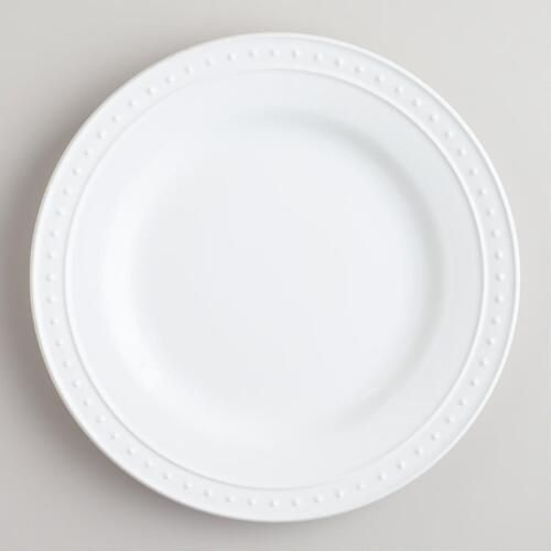 White Nantucket Dinner Plates, set of 4 | World Market