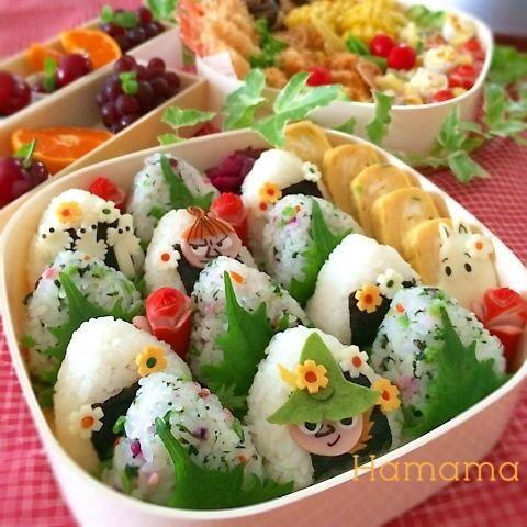 moomin family riceballs