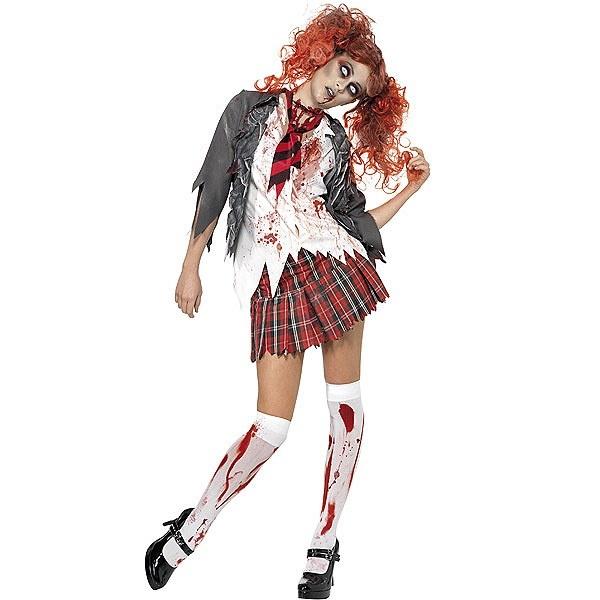 Disfraz de Estudiante Zombi con sangre #zombie #terror #miedo #disfraces #halloween