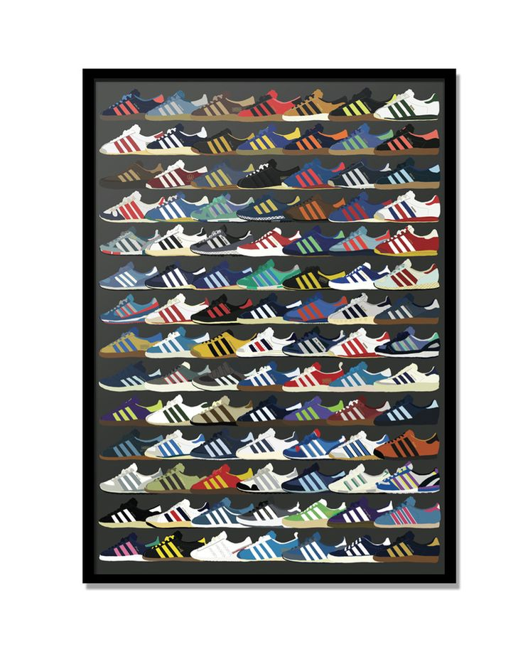 Image of adidas city series A3 Print