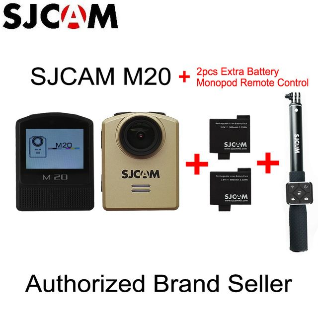 Original SJCAM M20 Gyro Action Helmet Sports DV Camera NTK96660 30M Waterproof with Monopod Remote Control + 2pcs Extra Battery US $129.99-148.96  Click link to buy other product http://goo.gl/K0keet