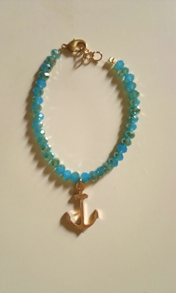 anchor-blue bead bracelet