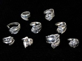 Recycled Spoon Rings · Jewelry Making | CraftGossip.com